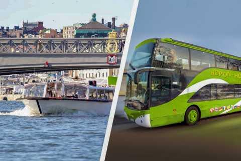Stockholm: Hop-on-hop-off-buss och båt i 24 eller 72 timmar