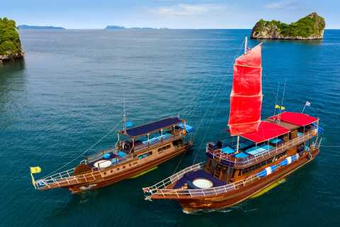 From Koh Samui: Half-Day Private 78-Foot Yacht Charter