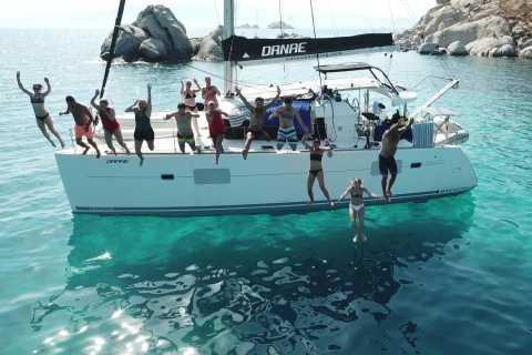 Naxos: crociera di 1 giorno su un catamarano con pranzo