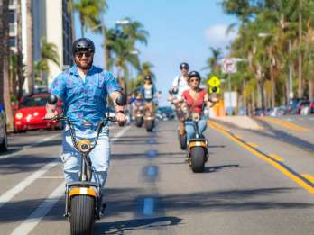 San Diego: Downtown und Gaslamp Loop Scooter Tour