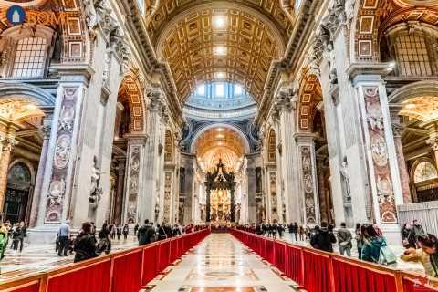 Tour Museus Vaticanos, Capela Sistina, Basílica de São Pedro
