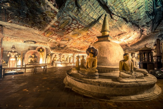 Dambulla: all-inclusive tour met grottempel en dorp