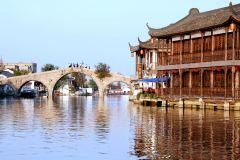 Xangai: Excursão à Tarde pelas Águas de Zhujiajiajiao Unesco