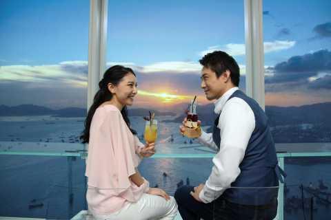 Hongkong: Kombipaket Aussichtsplattform Sky100 mit Getränken