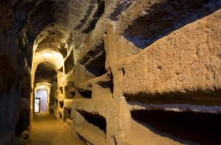 Katakomben- und U-Bahn-Kleingruppe in Rom