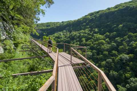 Tbilisi: Transfer to Canyons and Prometheus Cave