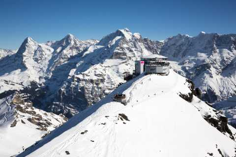 Cable Car Roundtrip to Schilthorn: Piz Gloria & Bond World