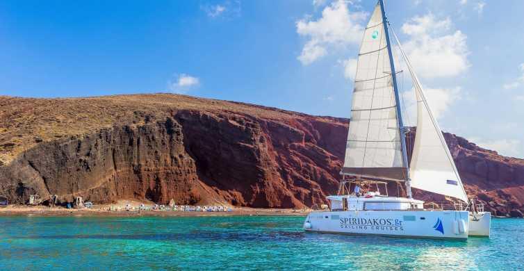 Santorini: Small Group Cruise by Luxury Catamaran