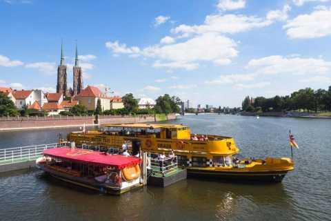 Wrocław: Long City Walk and River Cruise