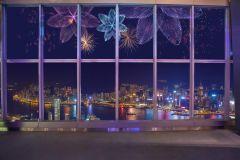 Happy Hour no Observatório Sky100 com show de luzes cintilantes
