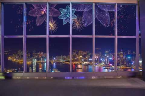 Sky100 Observatory: Funkelnde Lichtershow am Abend