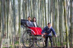 Kyoto: Excursão personalizada de riquixá em Arashiyama e floresta de bambu