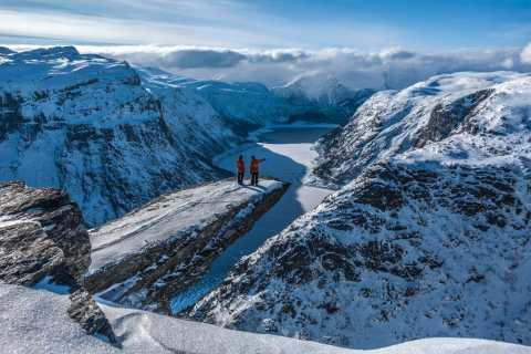 Odda: Trolltunga Winter Snowshoe Hike