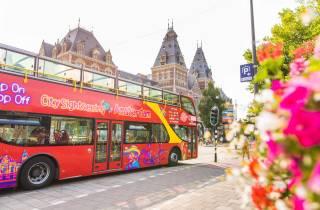 Amsterdam: Hop-On/Hop-Off-Bustour mit Boot-Option