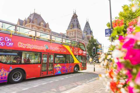 Amsterdam: Hop-On Hop-Off Bus Tour with Boat Option