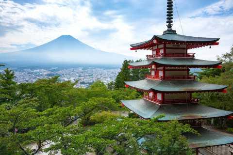 Monte Fuji y lago Kawaguchi: tour en autobús de 1 día