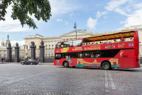 St. Petersburg: Hop-On/Hop-Off-Bus und Bootstour