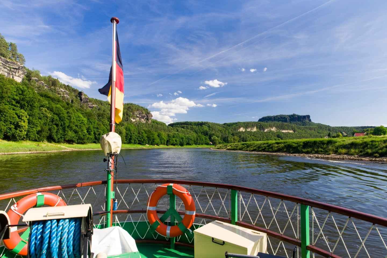 Bad Schandau: Bootstour in der Sächsischen Schweiz