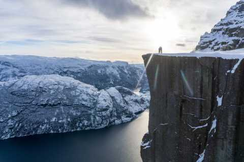 Guided Preikestolen: Pulpit Rock Winter/Spring Hike
