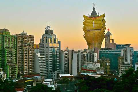 Excursion d'une journée en bus à l'UNESCO à Macao avec visite d'un casino et déjeuner buffet