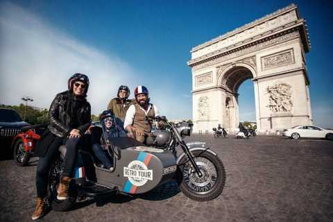 Paris: excursion classique en moto de sidecar vintage d'une heure