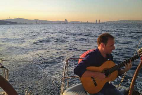 Spanish Guitar Live & Sailing Experience BCN From Port Vell