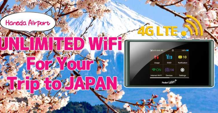 Aeroporto Haneda: router Wi-Fi 4G LTE tascabile per Giappone