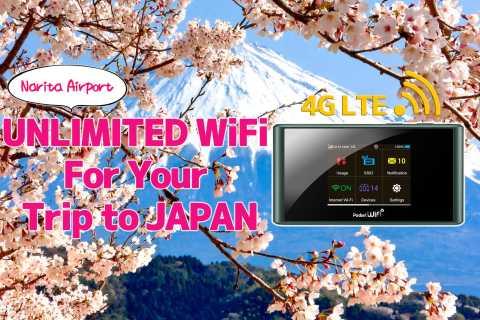 Narita Airport pickup: Japan Pocket WiFi Router 4G LTE