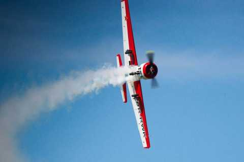 Kiev: Yak-52 Aircraft Aerobatic Stunt Flight
