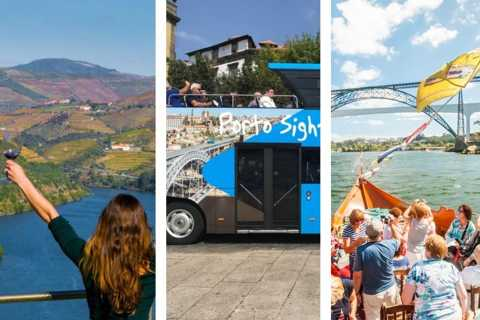 Douro Valley: Porto Hop-On Hop-Off Tour and River Cruise