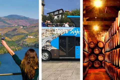 Porto: Douro Valley, Hop-on Hop-off Bus and Cellars Tour
