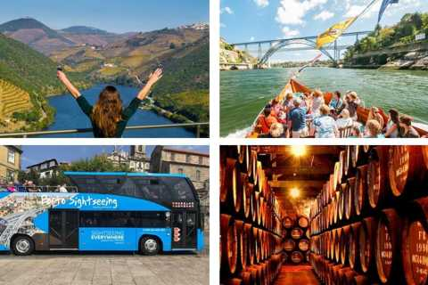 Douro Valley: Hop-on Hop-Off Bus, Cruise & Wine Cellars