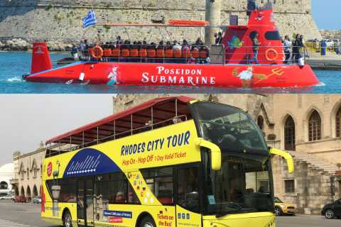 Rhodes: Hop-on Hop-off Bus and Submarine Tour