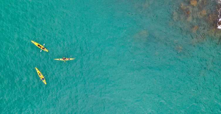 Santorini: Kayaking & Picnic at Red, White & Black Beach