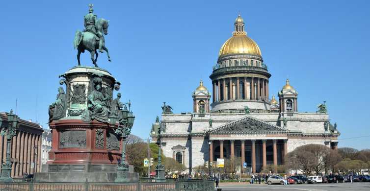 St Petersburg: Full-Day Visa-Free Tour in German