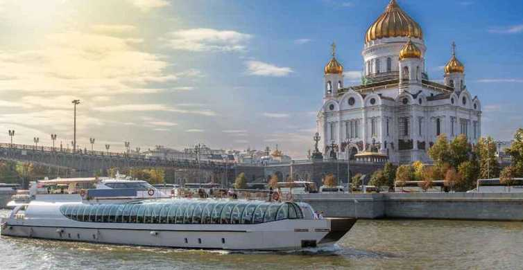 Moscow: 2.5-Hour Guided Boat Tour with Hotel Pick-Up