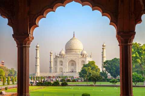 Salida del sol privada Taj Mahal y Fuerte de Agra desde Jaipur en automóvil