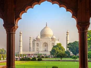 Private Sunrise Taj Mahal & Agra Fort von Jaipur mit dem Auto