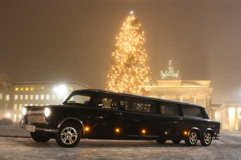 Berlin: 1.5-Hour Winter Lights Tour by Trabi Limousine