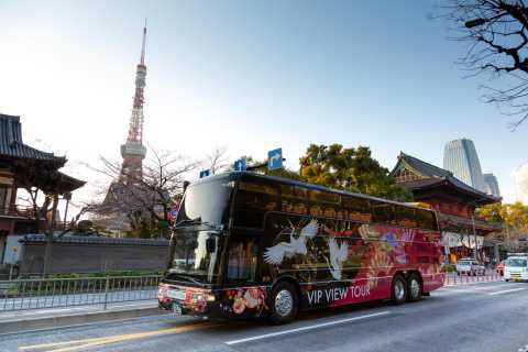 Tokyo: 70-Minute Open Top Sightseeing Bus with Audio Guide