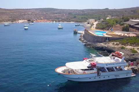 From Malta: Three Islands Swimming and Sightseeing Boat Tour
