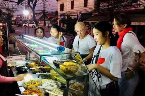 Luang Prabang Local Food Tour At Night By Vintage Tuk-Tuk