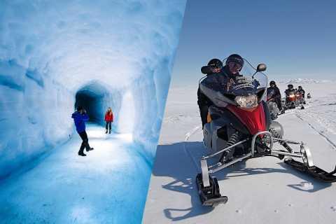 Reykjavík: tour in motoslitta della grotta di ghiaccio