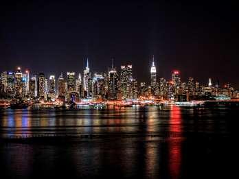 New York City: 4-stündige Bustour ab Manhattan Nacht-Skyline