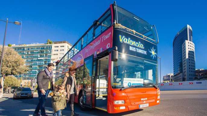 Valencia: Tour en autobús con paradas libres