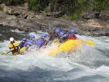 Banff: Morgen Wildwasser-Rafting-Tour im Horseshoe Canyon