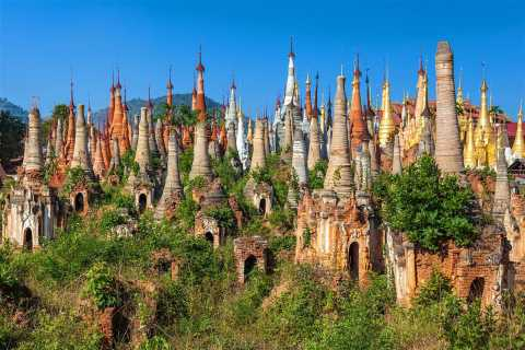 Indein Pagoda and Inle Lake Sightseeing