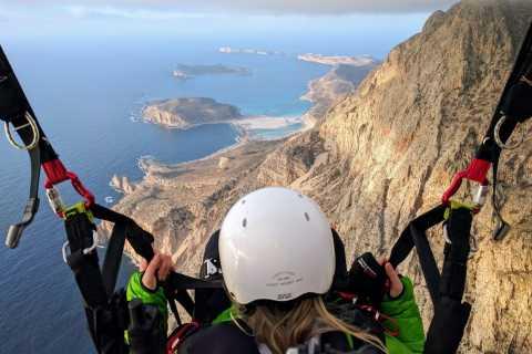 Chania: 20 Minute Paragliding Tandem Flight
