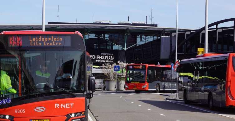 Amsterdam Airport Express: tur- och returbuss till staden