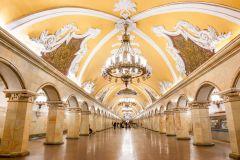 Moscou: Passeio pelo Metrô em Grupo Pequeno